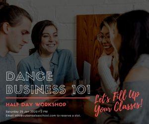 Dance Business 101 Workshop